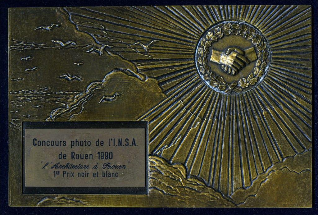 concours photo de l'INSA de Rouen 1990 1 er prix noir et blanc