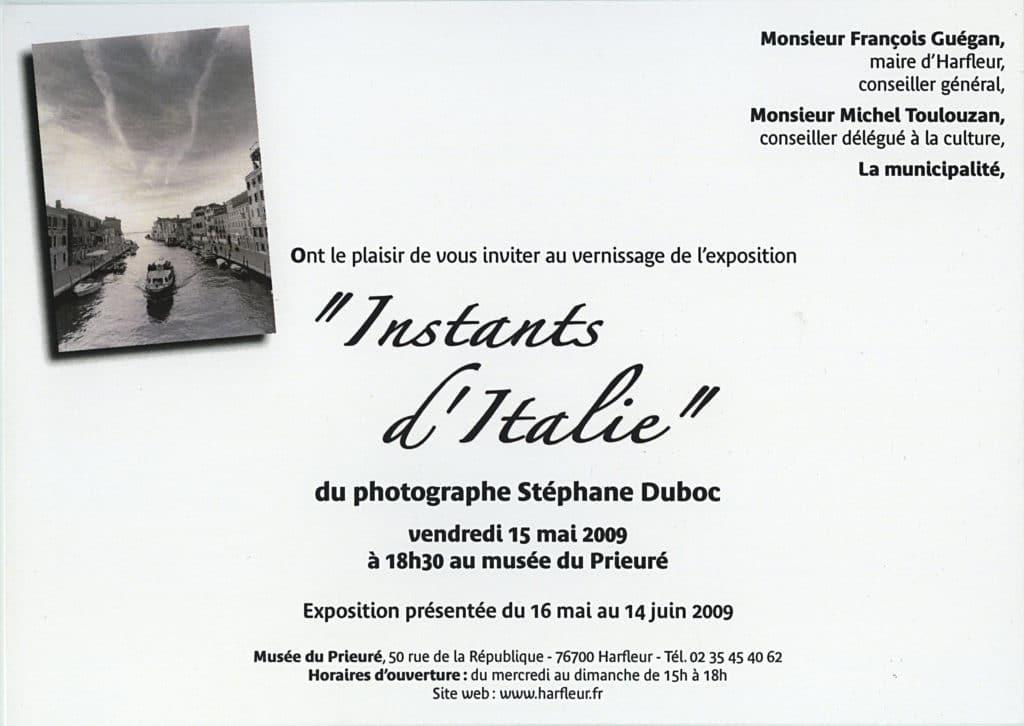 """Exposition """" Instants d'Italie"""" au musée du prieuré à Harfleur"""