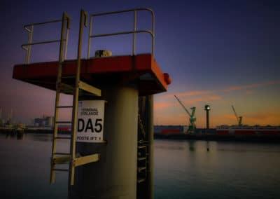 Dans le port du Havre Photographie Stéphane Duboc