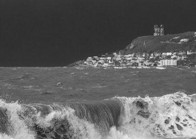 Tempête Ciara sur la plage du Havre